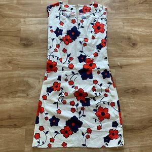 Mod Floral Print Vintage 1960s Shift Tunic Dress
